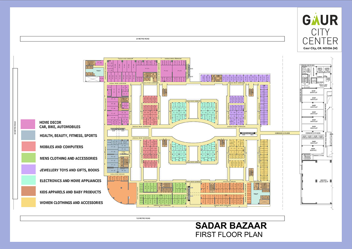 gaur city center sadar bazaar