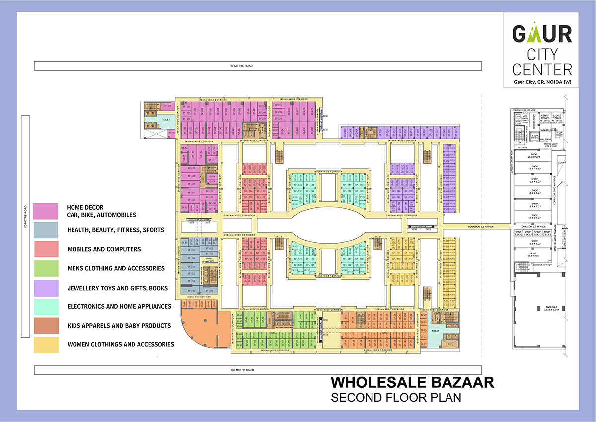gaur city center wholesale bazaar