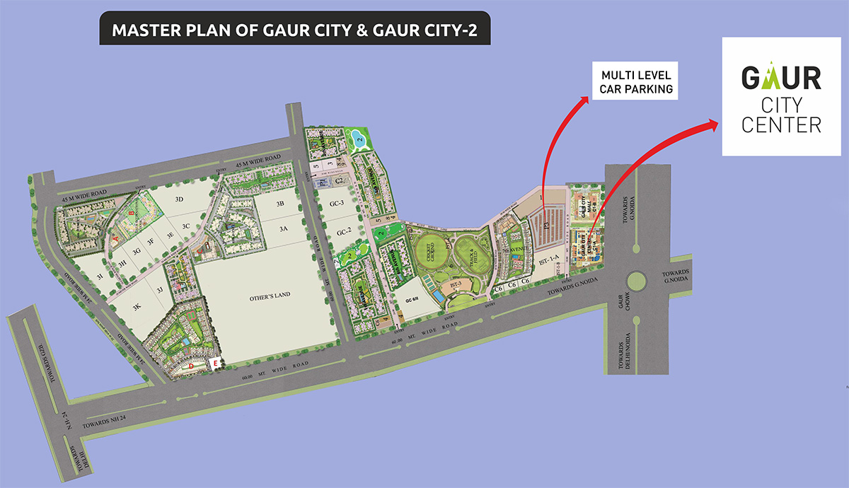 gaur city center site plan